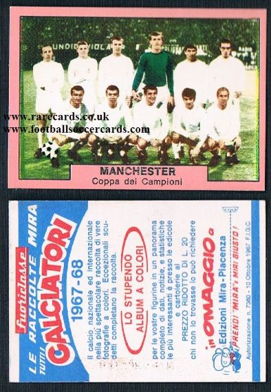 1967 Manchester United MIRA Italy